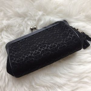 Coach Black Monogram Clutch/Wristlet